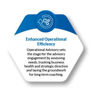 perational Advisory uses operational indicators to measure and track business health and strategic direction.